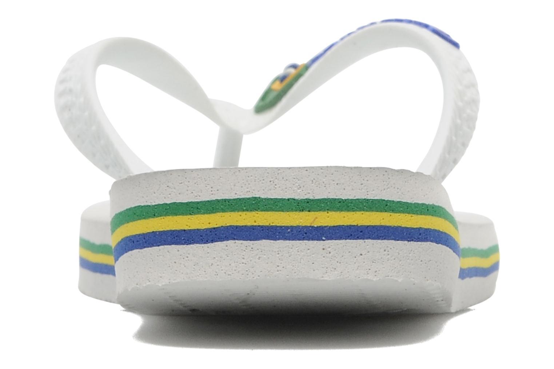 Chanclas Havaianas Brasil Logo E Blanco vista lateral derecha