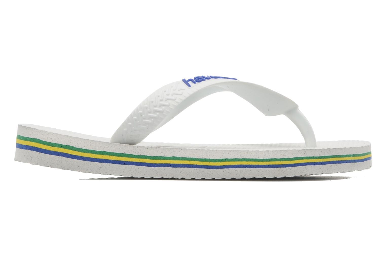 Chanclas Havaianas Brasil Logo E Blanco vistra trasera