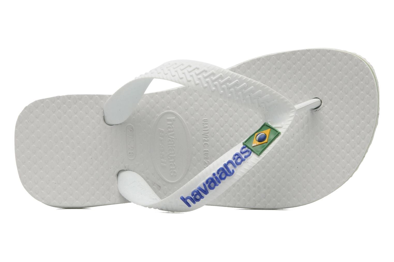 Zehensandalen Havaianas Brasil Logo E weiß ansicht von links