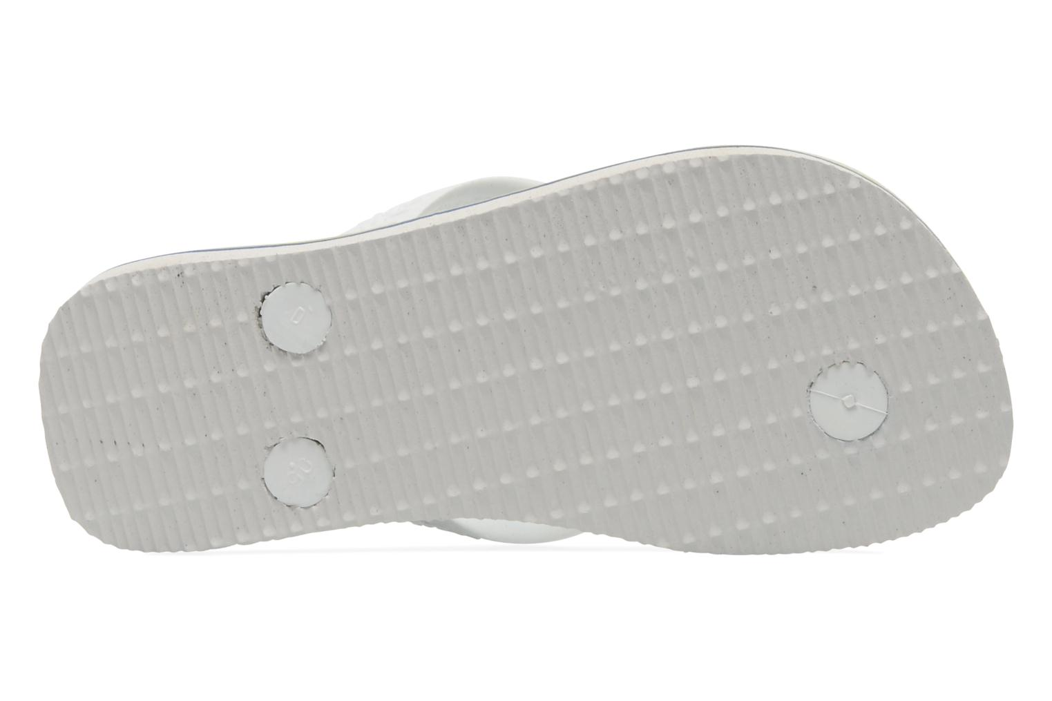 Flip flops Havaianas Brasil Logo E White view from above