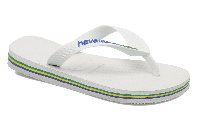 Flip flops Havaianas Brasil Logo E White detailed view/ Pair view