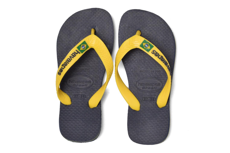 Slippers Havaianas Brasil Logo E Blauw 3/4'