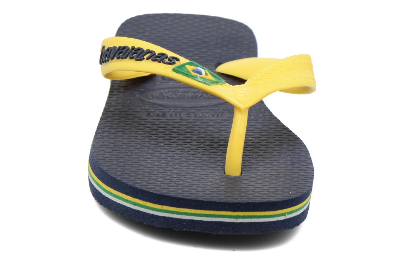 Flip flops Havaianas Brasil Logo E Blue model view