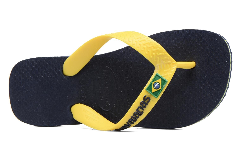 Flip flops Havaianas Brasil Logo E Blue view from the left
