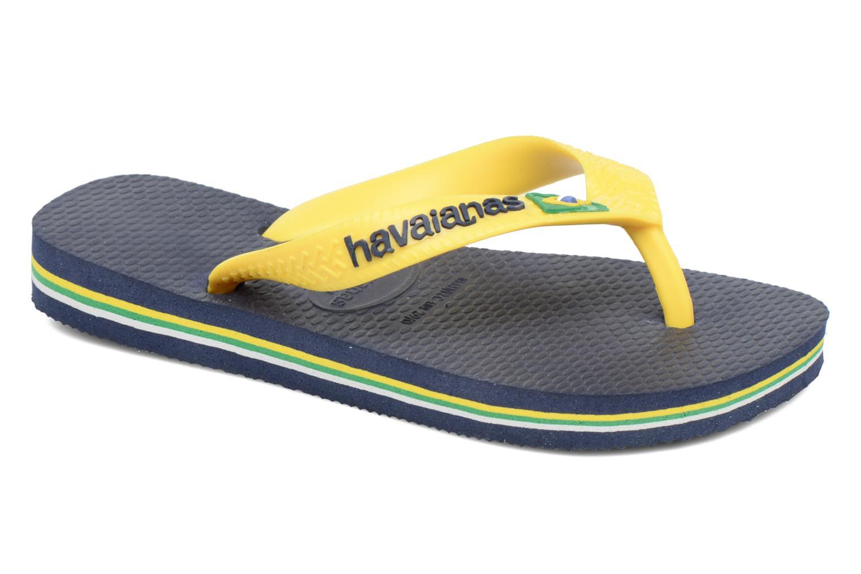 Flip flops Havaianas Brasil Logo E Blue detailed view/ Pair view