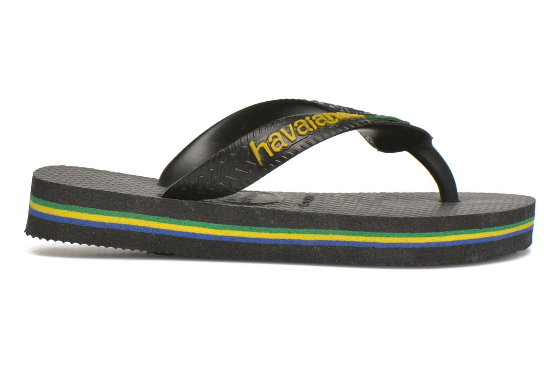 Flip flops Havaianas Brasil Logo E Black back view