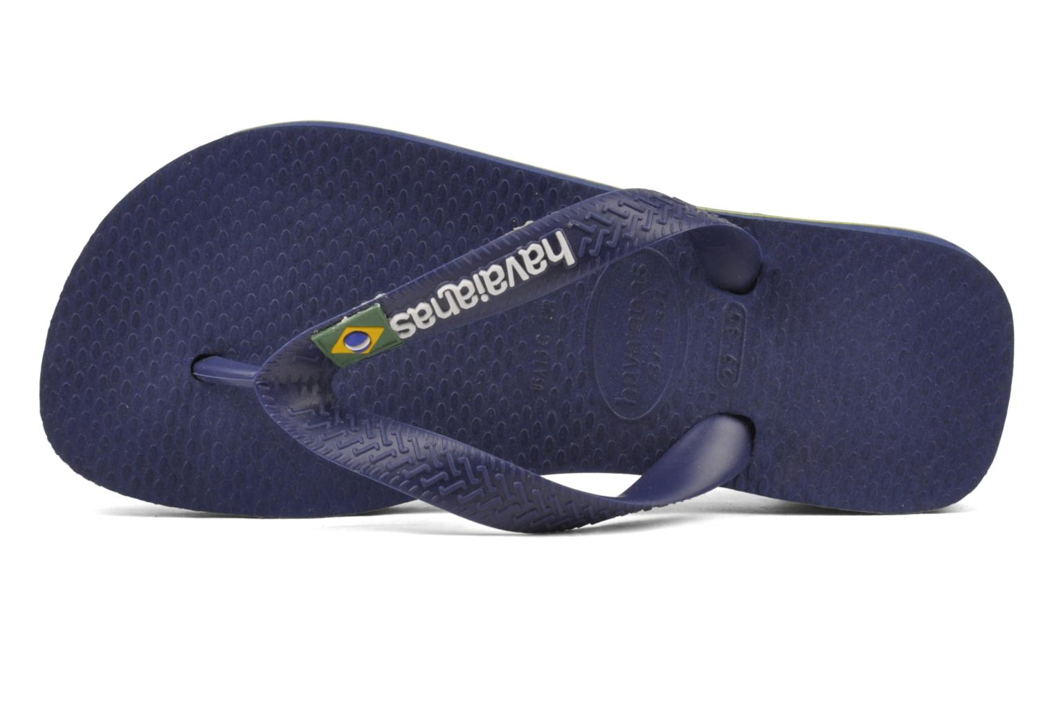 Flip flops Havaianas Brasil Logo E Blue view from the left