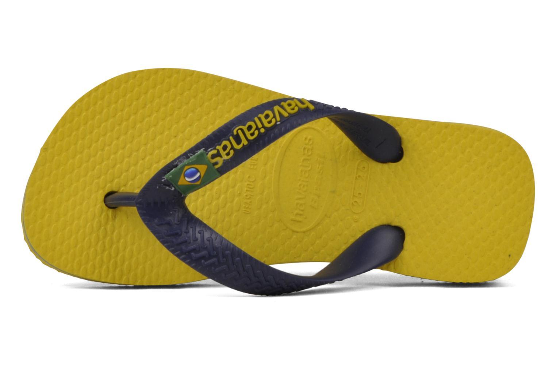 Zehensandalen Havaianas Brasil Logo E gelb ansicht von links
