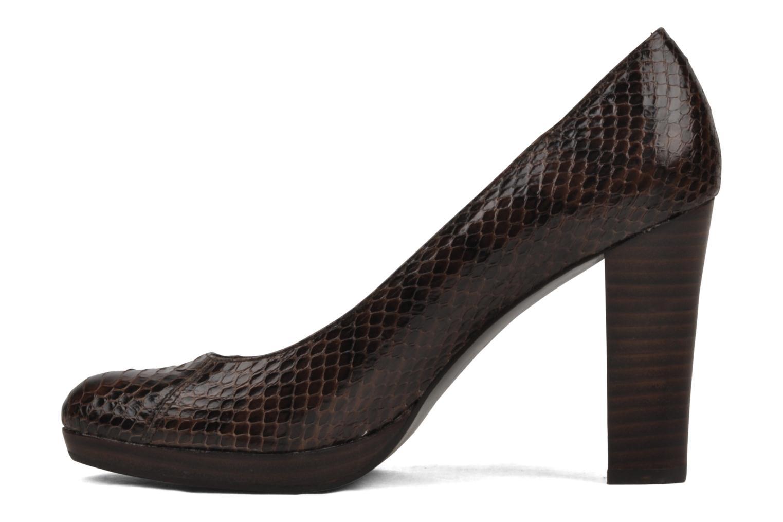 Escarpins Jonak Mignardise Marron vue portées chaussures