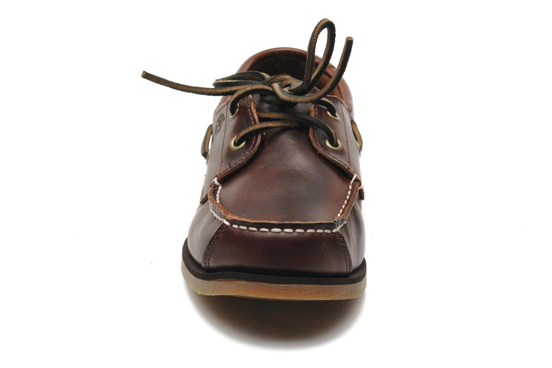 Chaussures à lacets Timberland Boat Shoe Peaks Island E Marron vue portées chaussures