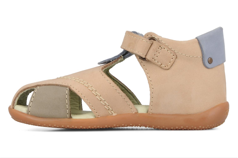 Sandales et nu-pieds Kickers Banzai Beige vue face