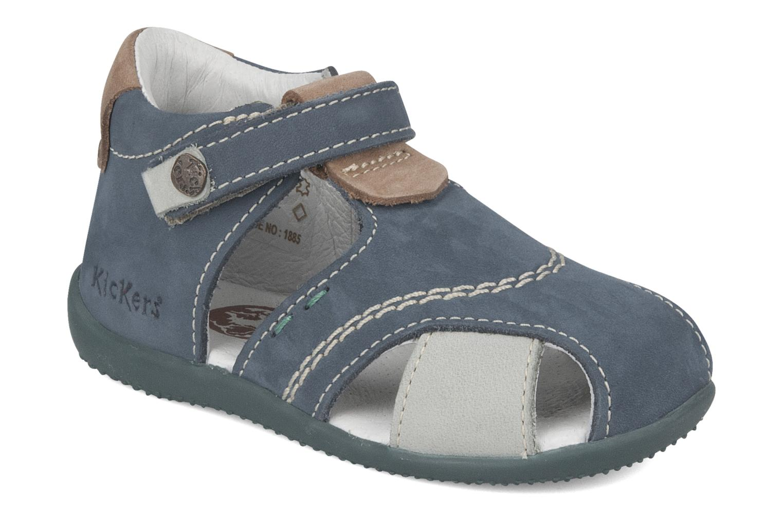 Sandales et nu-pieds Kickers Banzai Bleu vue détail/paire
