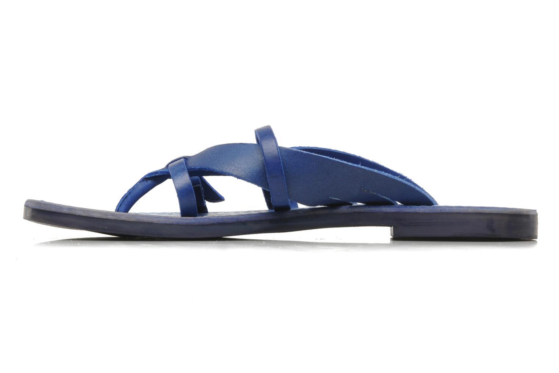 Sandalen Kickers Dilight blau ansicht von vorne