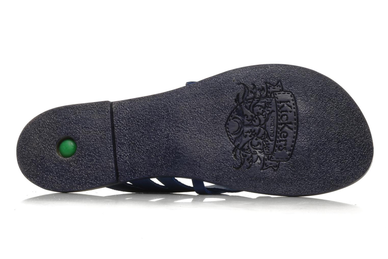Sandalen Kickers Dilight blau ansicht von oben