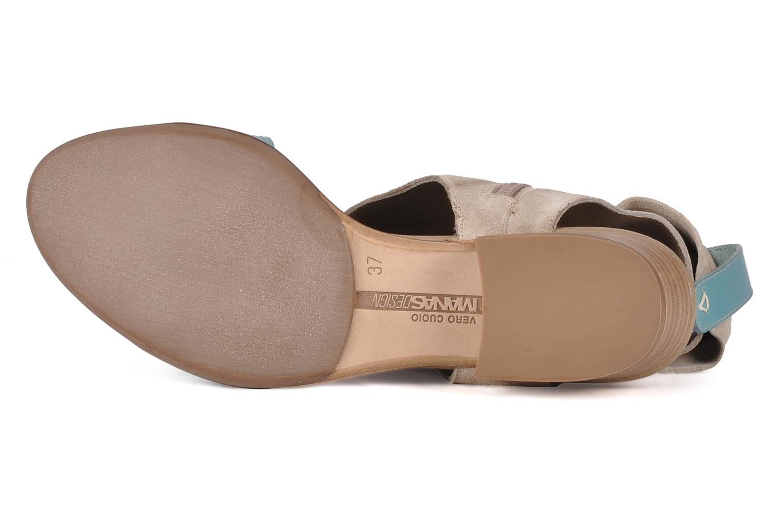 Sandales et nu-pieds Manas Lavori Gris vue haut