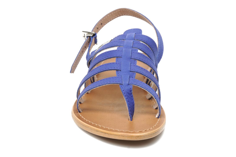 Sandales et nu-pieds Les Tropéziennes par M Belarbi Hook Bleu vue portées chaussures