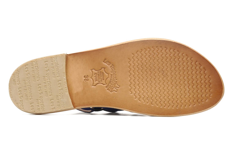 Sandales et nu-pieds Les Tropéziennes par M Belarbi Hook Bleu vue haut