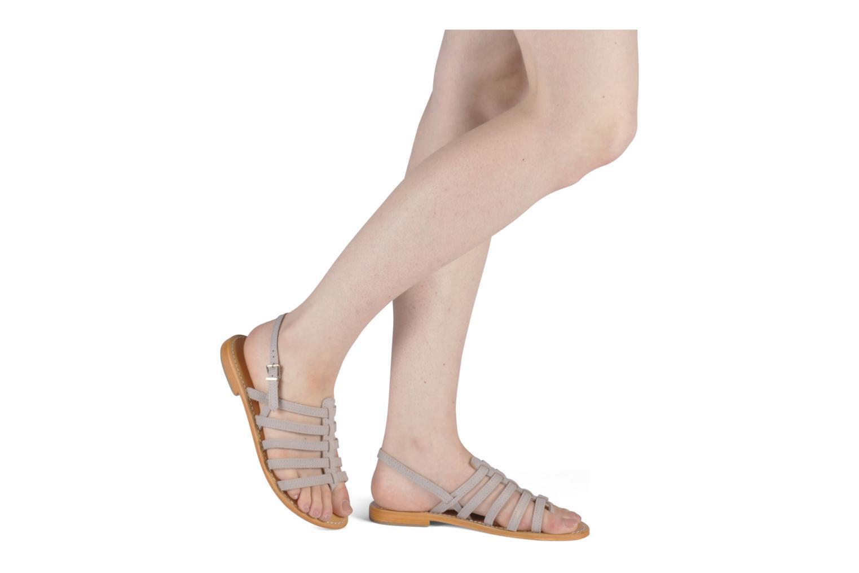 Sandales et nu-pieds Les Tropéziennes par M Belarbi Hook Marron vue bas / vue portée sac