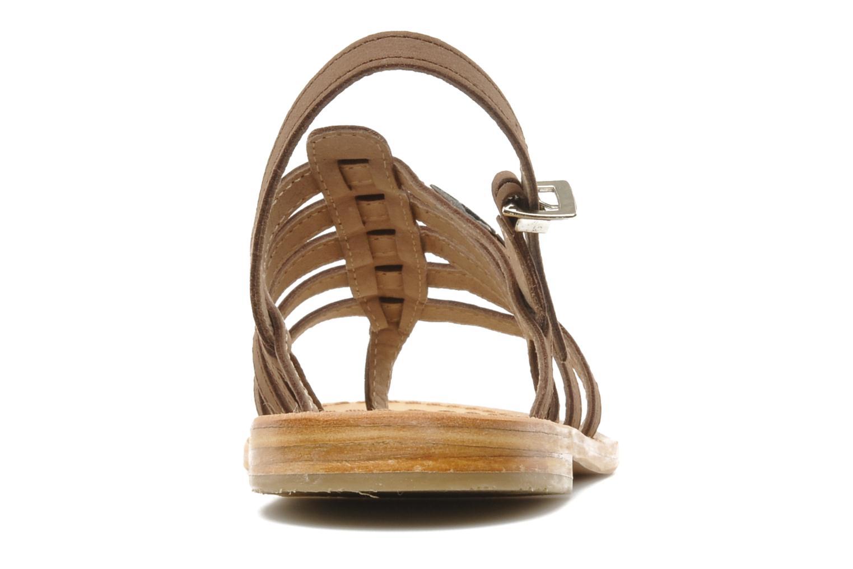 Sandales et nu-pieds Les Tropéziennes par M Belarbi Hook Marron vue droite