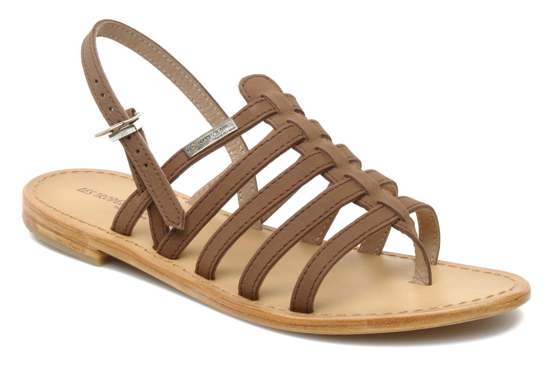 Sandals Les Tropéziennes par M Belarbi Hook Brown detailed view/ Pair view