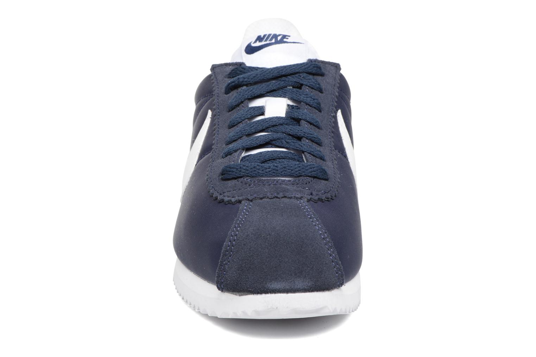 Sneaker Nike Wmns Classic Cortez Nylon blau schuhe getragen
