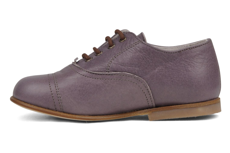 Zapatos con cordones PèPè Coma Violeta      vista de frente