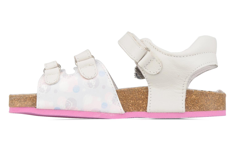 Sandalias Hello Kitty Kijou Blanco vista de frente