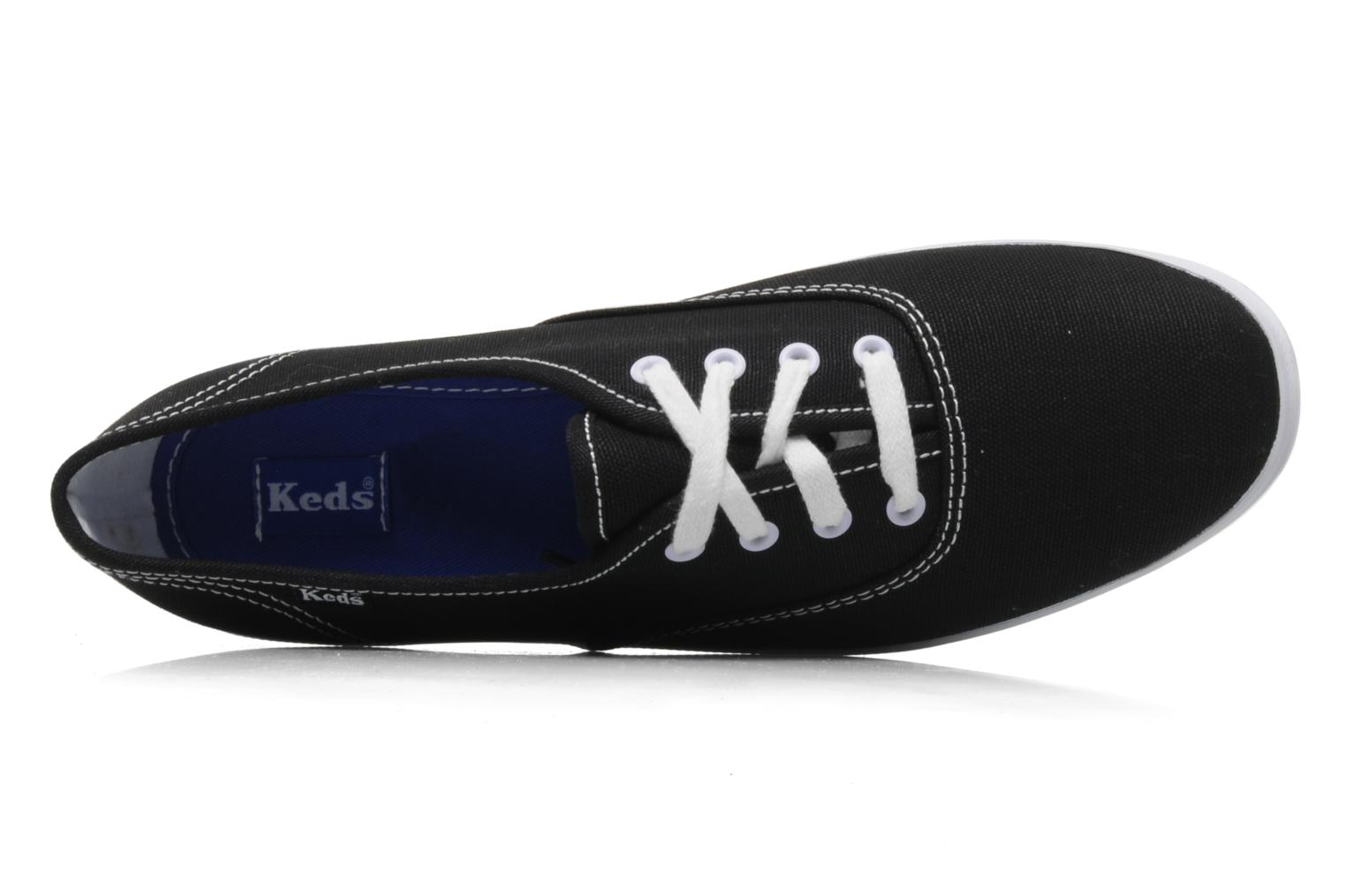 Trainers Keds Champion Canvas Black view from the left