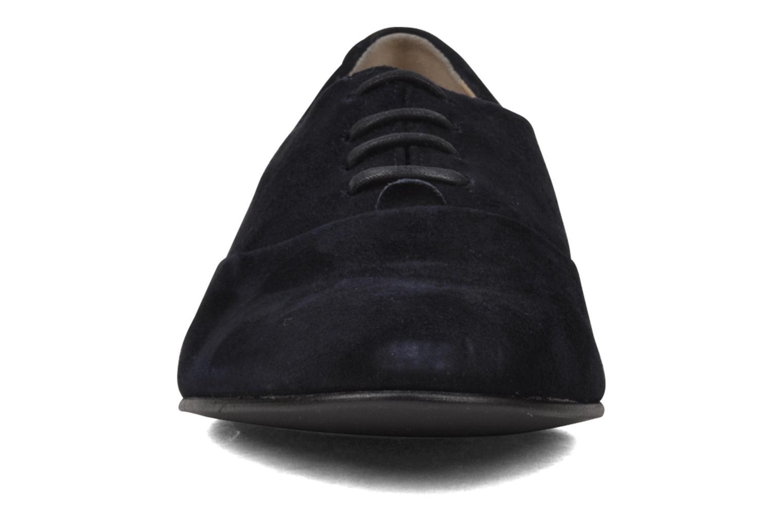 Chaussures à lacets Planisphere Nelly papaye Bleu vue portées chaussures