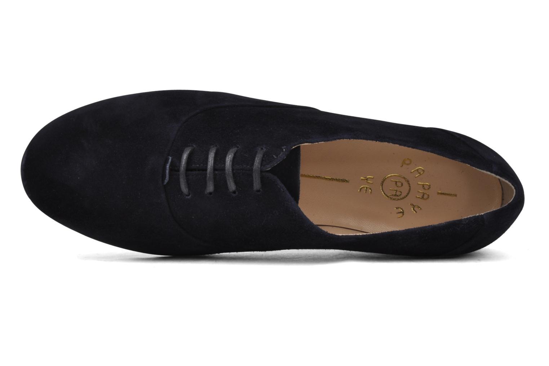 Zapatos con cordones Planisphere Nelly papaye Azul vista lateral izquierda