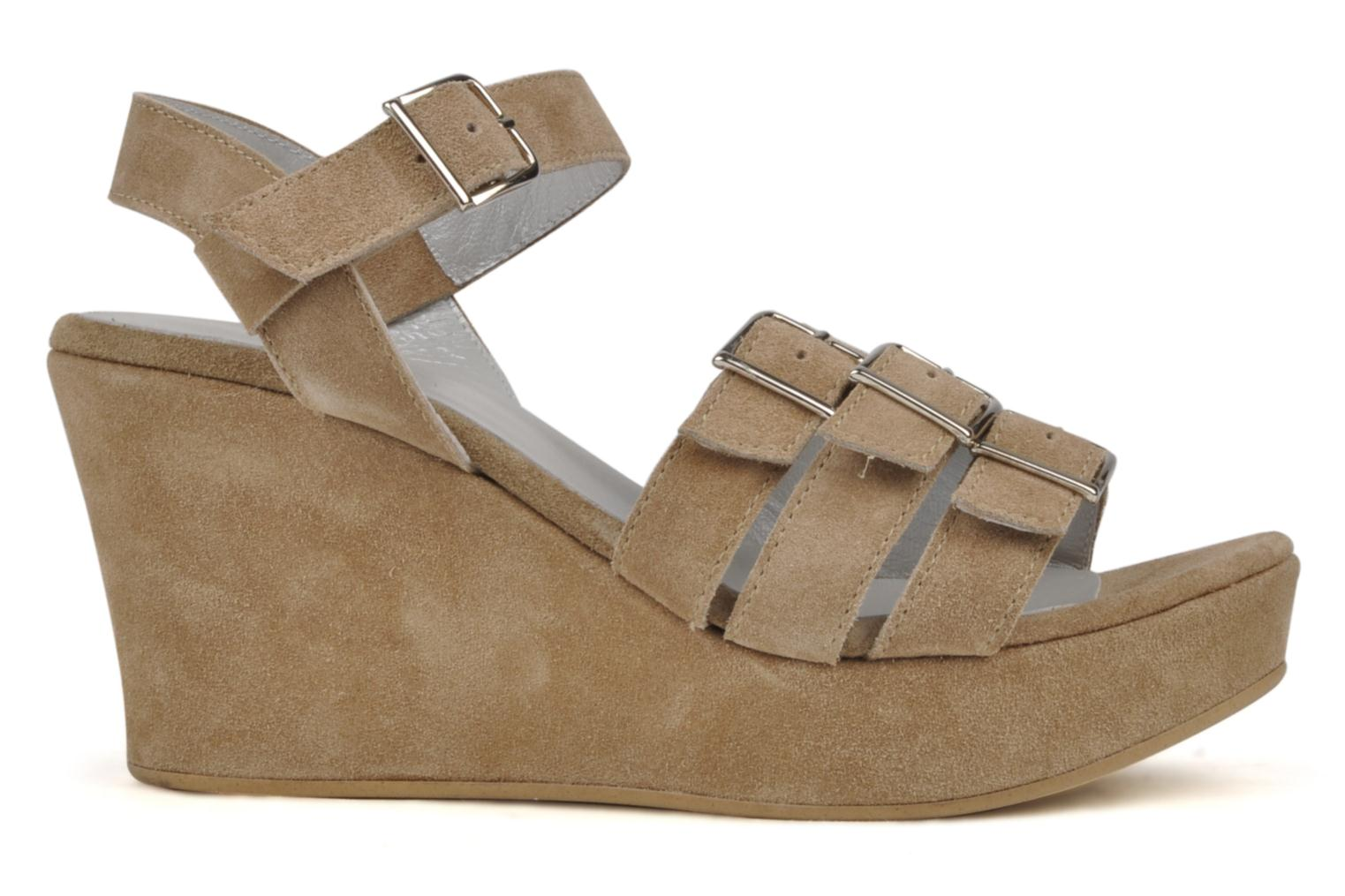 Sandals Planisphere Zoom Beige back view