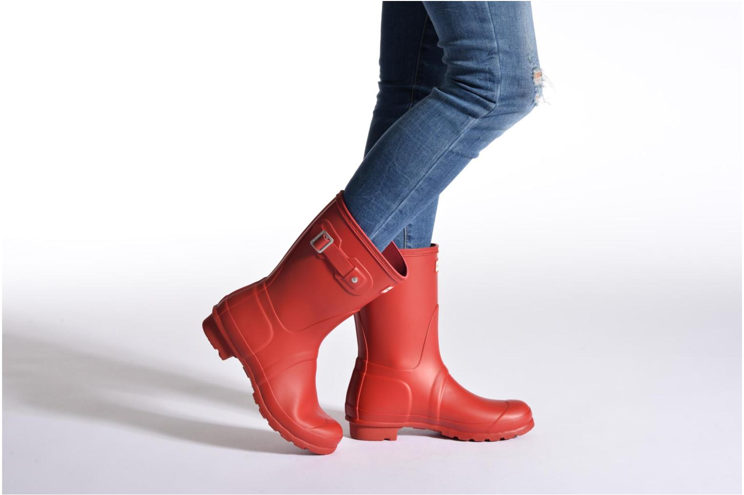 Bottines et boots Hunter Original Short Rouge vue bas / vue portée sac