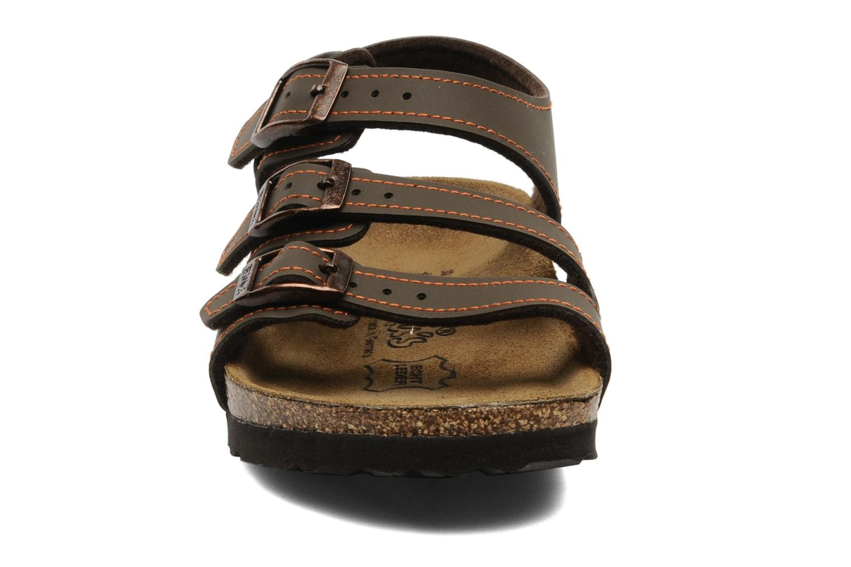 Sandales et nu-pieds Birki's Ellice E Marron vue portées chaussures