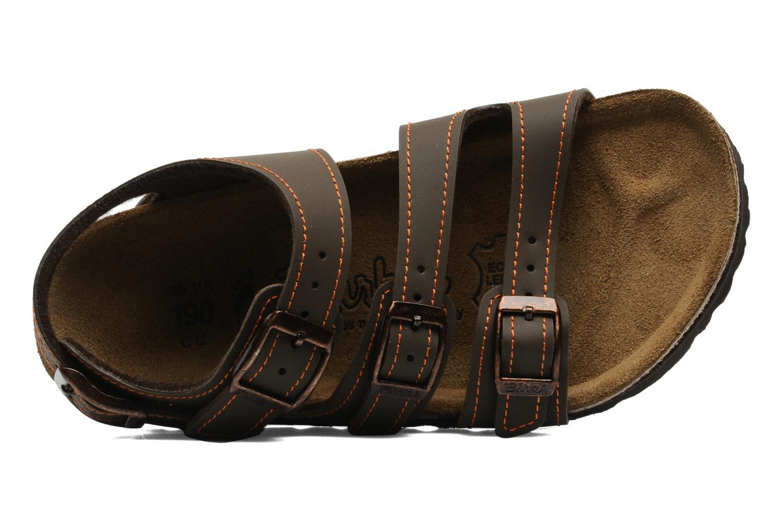 Sandales et nu-pieds Birki's Ellice E Marron vue gauche
