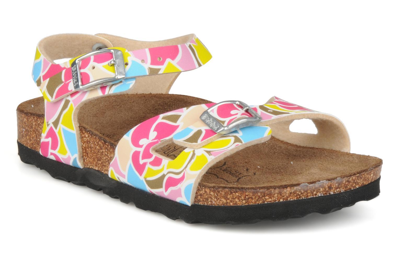 Sandals Birki's Tuvalu E Multicolor detailed view/ Pair view