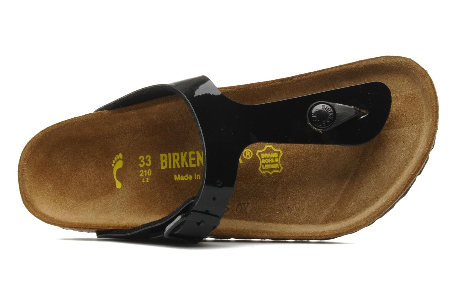 Slippers Birkenstock Gizeh E Zwart links