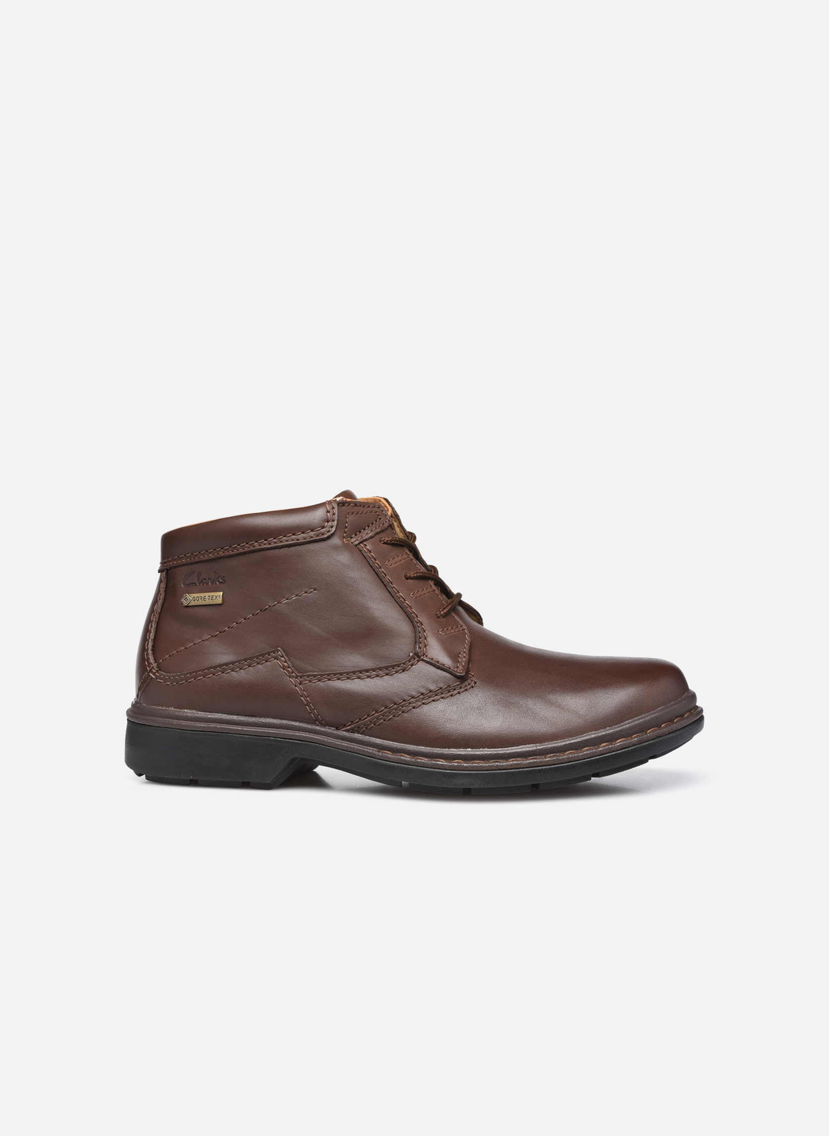 Lace-up shoes Clarks Rockie Hi Gtx Brown back view