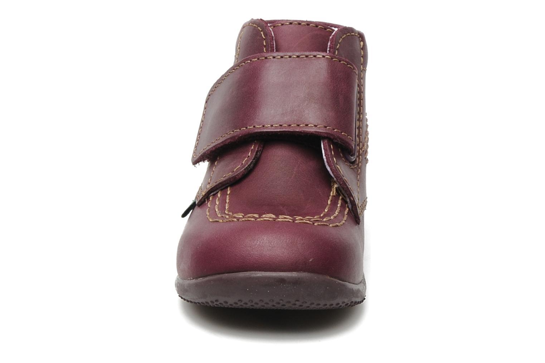 Chaussures à scratch Kickers Bilou Violet vue portées chaussures