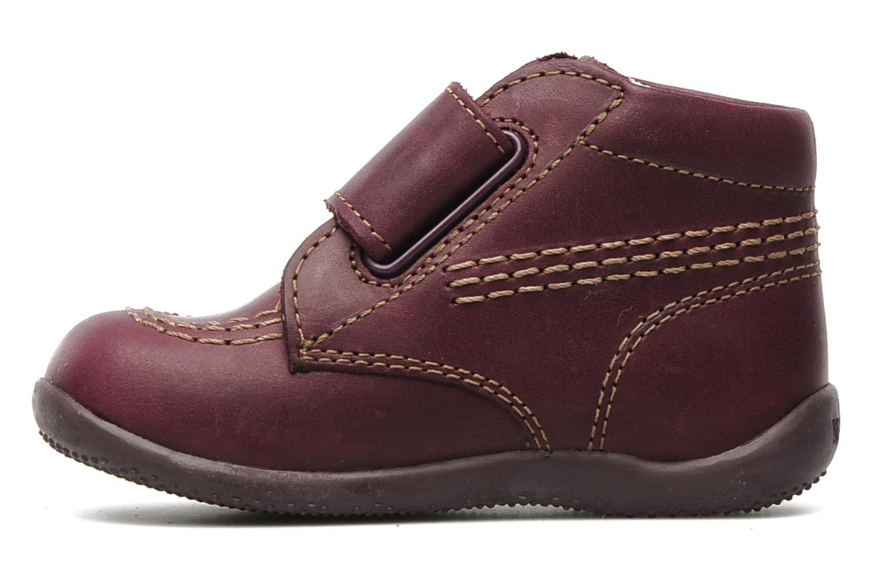 Chaussures à scratch Kickers Bilou Violet vue face