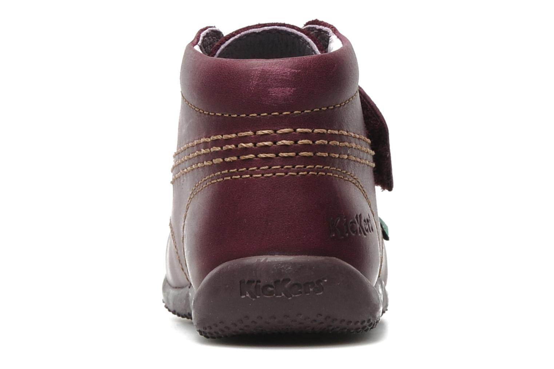 Chaussures à scratch Kickers Bilou Violet vue droite