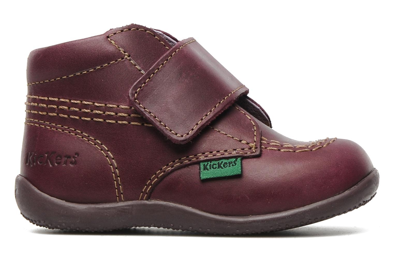Chaussures à scratch Kickers Bilou Violet vue derrière