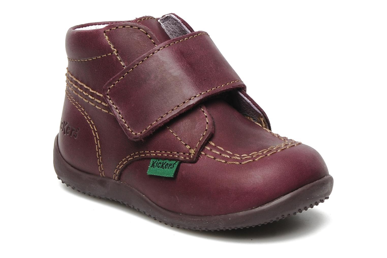Chaussures à scratch Kickers Bilou Violet vue détail/paire
