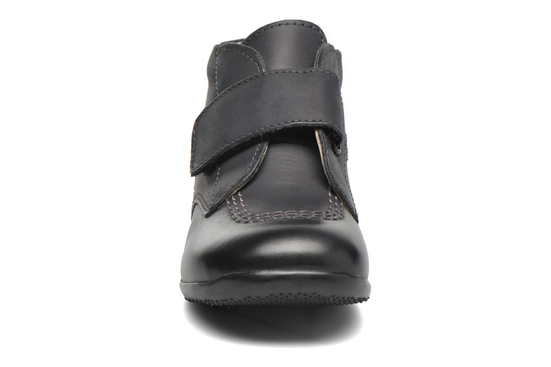 Chaussures à scratch Kickers Bilou Noir vue portées chaussures