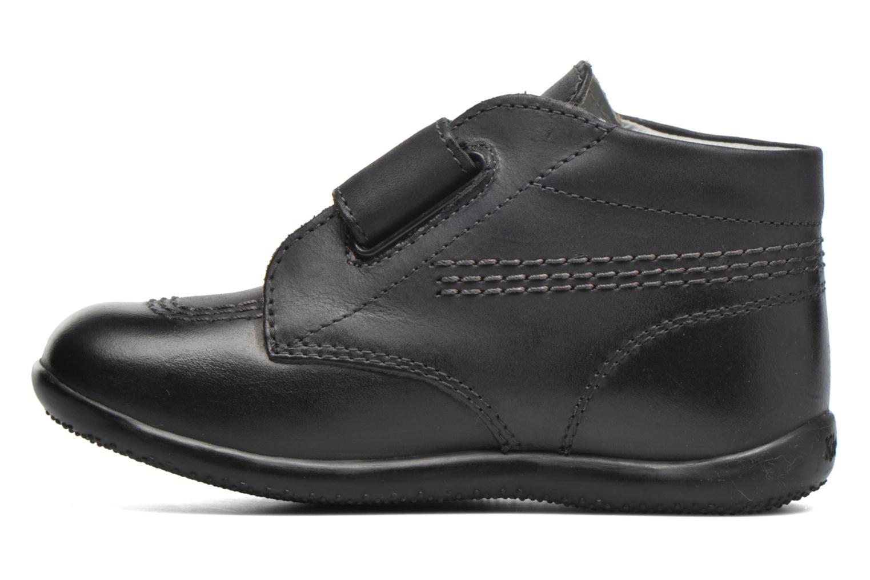 Chaussures à scratch Kickers Bilou Noir vue face