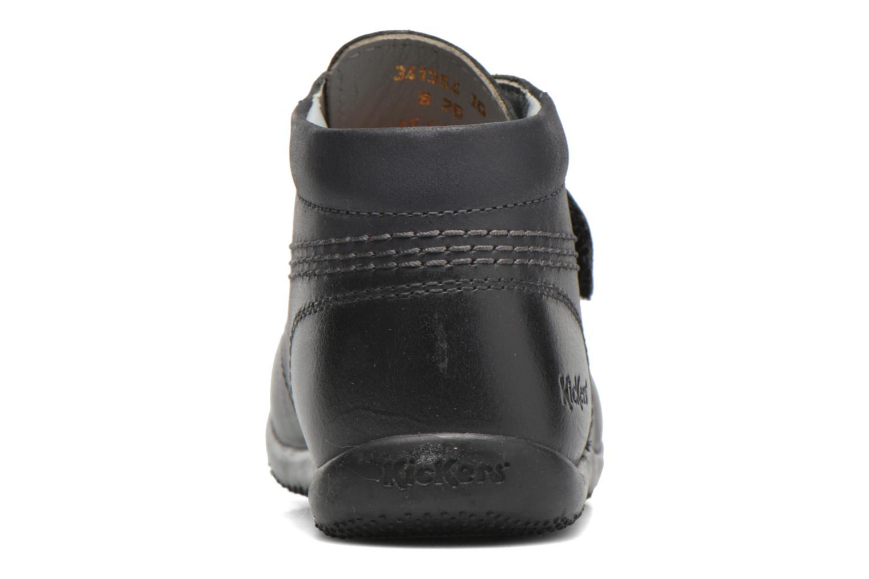 Zapatos con velcro Kickers Bilou Negro vista lateral derecha