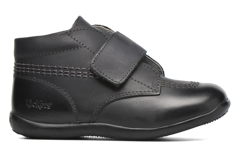 Zapatos con velcro Kickers Bilou Negro vistra trasera