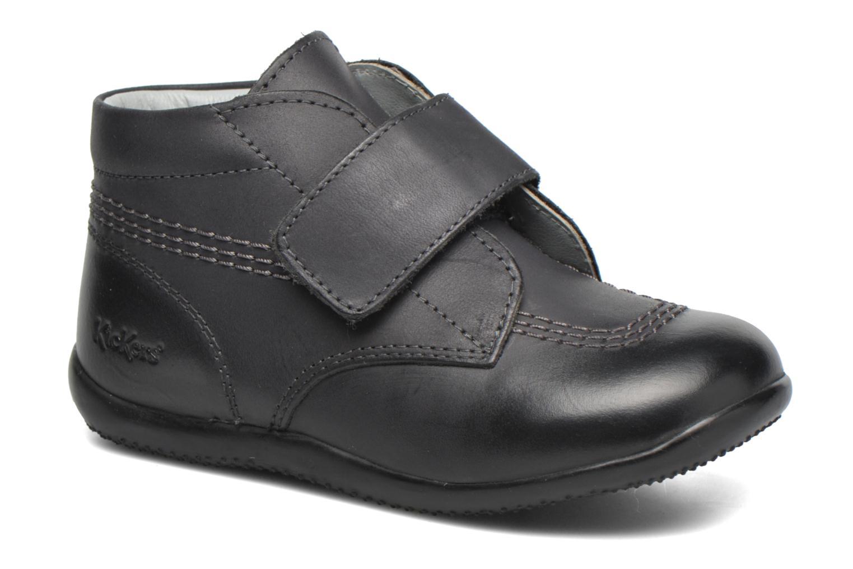Zapatos con velcro Kickers Bilou Negro vista de detalle / par