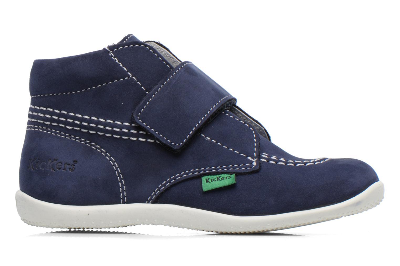 Schoenen met klitteband Kickers Bilou Blauw achterkant
