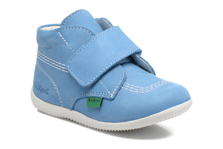 Zapatos con velcro Kickers Bilou Azul vista de detalle / par