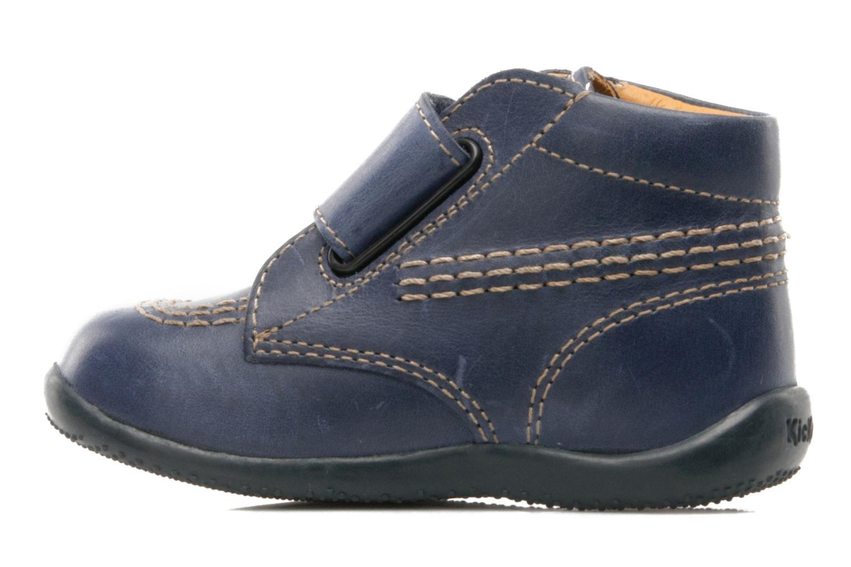 Schoenen met klitteband Kickers Bilou Blauw voorkant